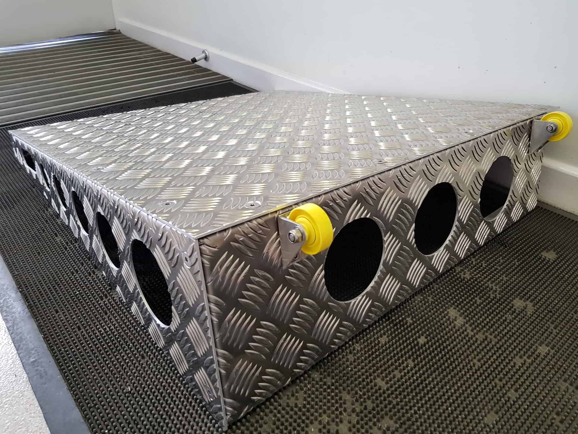 Checker Plate Threshold Ramps | Chequer Plate Direct 3