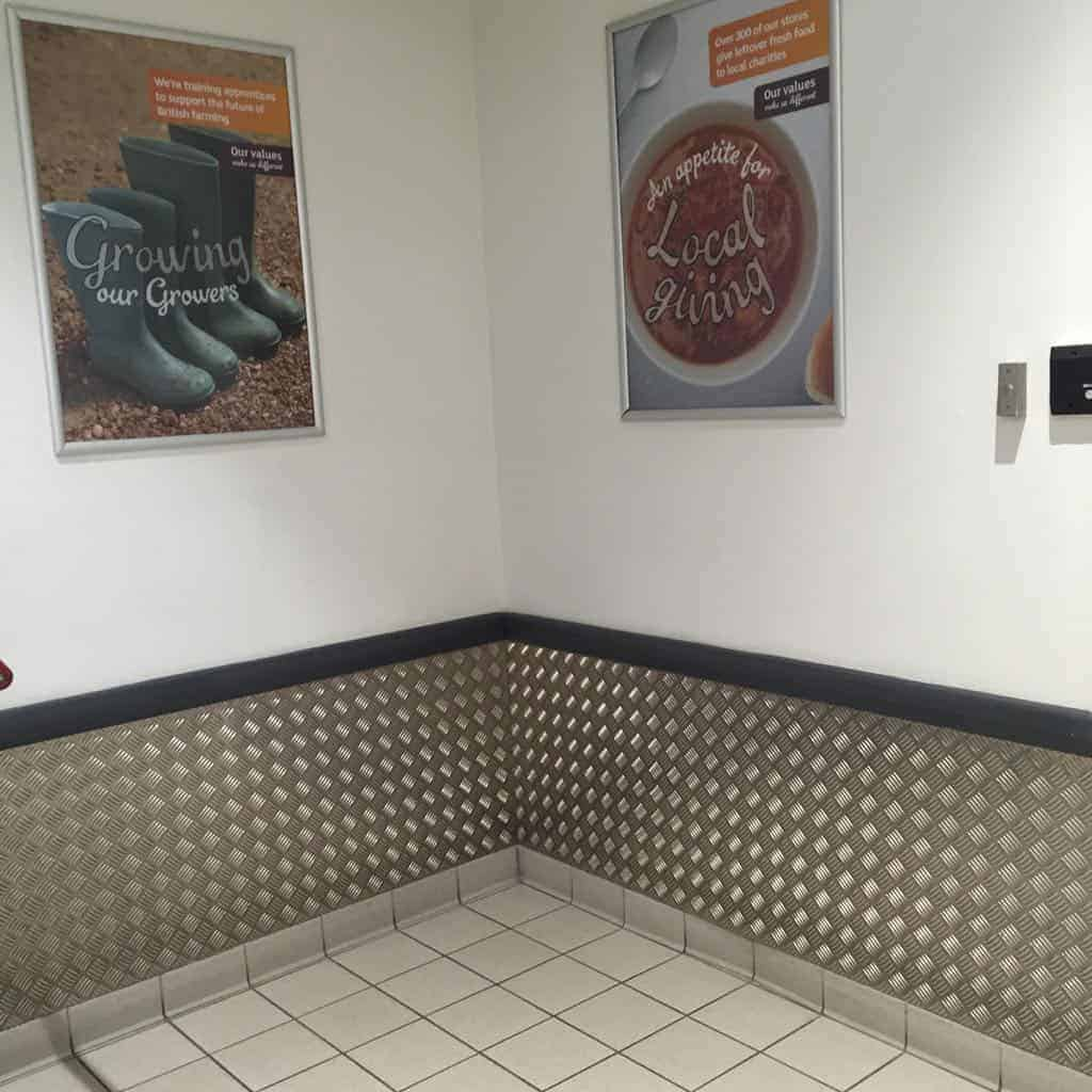 Sainsburys Checker Plate Wall Protection | Chequer Plate Direct 3
