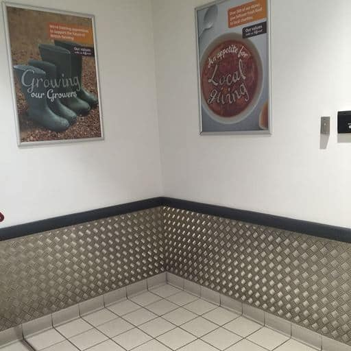 Checker Plate Wall Protection - Sainsburys | Chequer Plate Direct