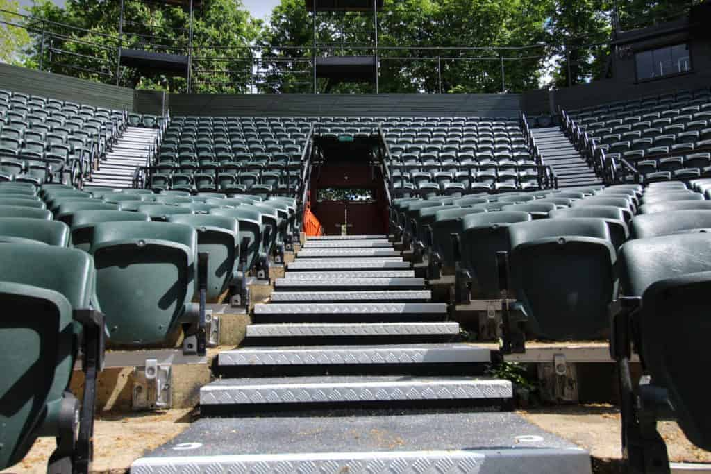 Checker Plate Stairs | Regents Open Air Theatre - Stairs