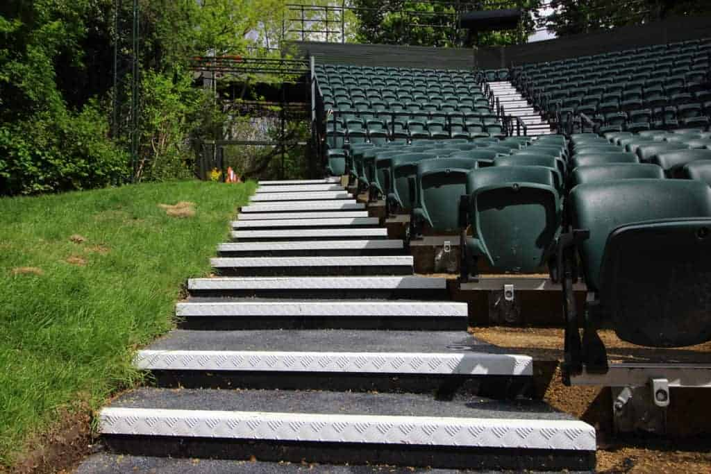 Checker Plate Stairs | Regents Open Air Theatre - Stairs 2