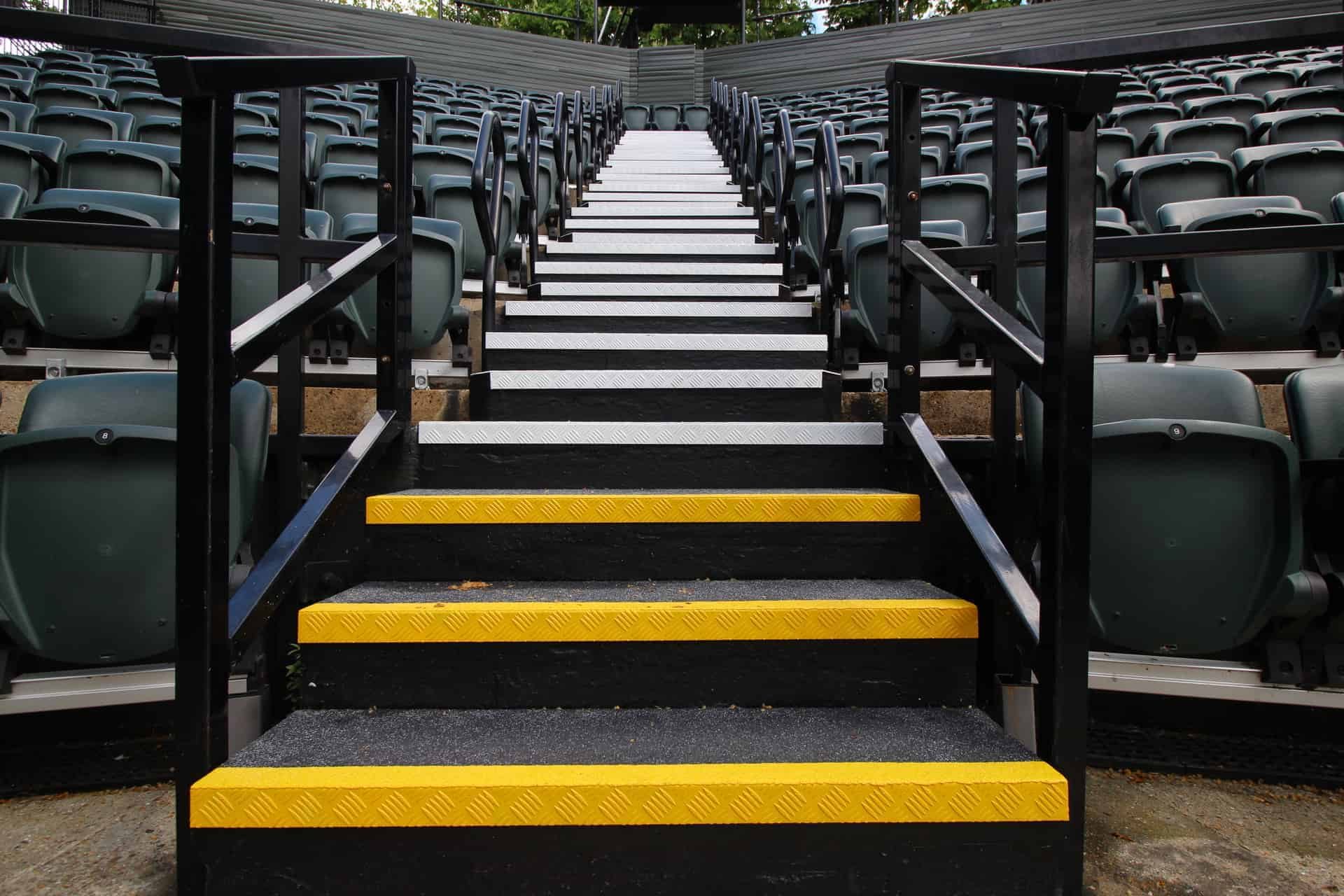 Checker Plate Stairs | Regents Open Air Theatre