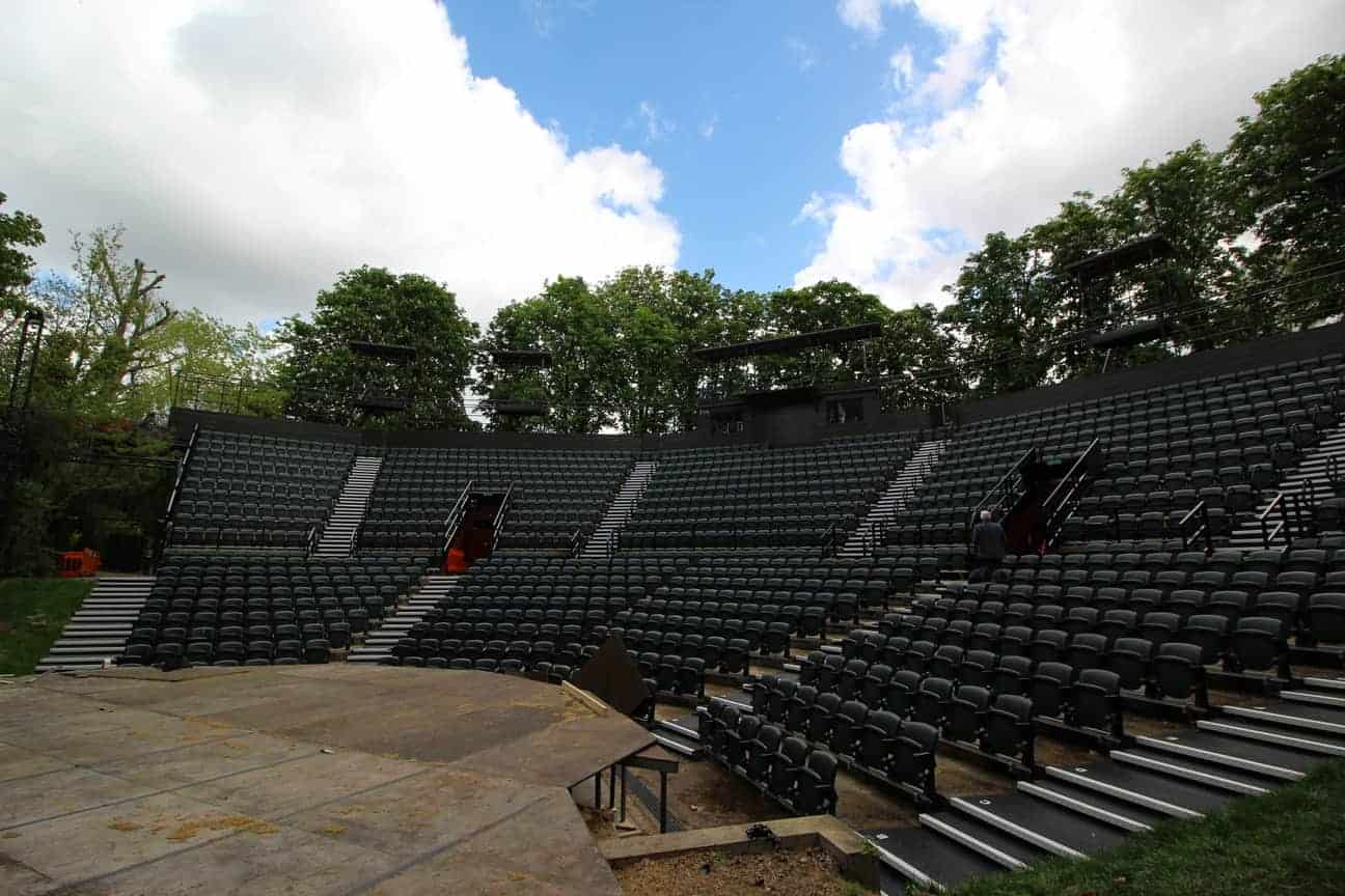 Chequer Plate Direct | Regents Open Air Theatre | Kick Plate Stairs