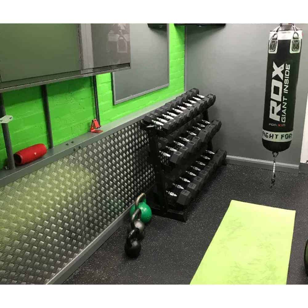 Checker Plate Gym Wall Protection | Chequer Plate Direct