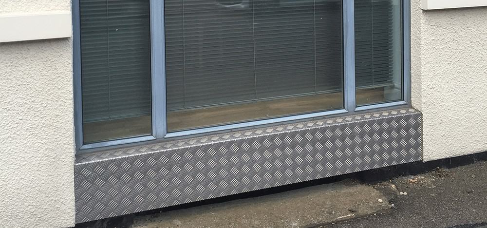 Chequer Plate Window Ledge | Chequer Plate Direct