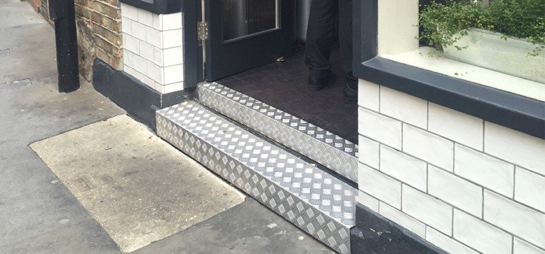 Chequer Plate Store Front Step | Chequer Plate Direct