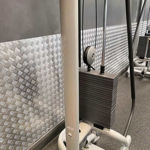 Gym Wall Protection - Chequer Plate | Chequer Plate Direct
